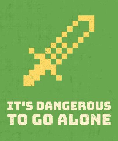 Pixel Art Sword T-Shirt Design Maker 28b