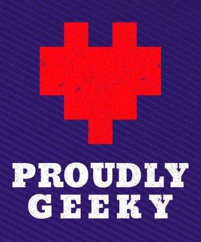 8-Bit Heart T-Shirt Design Template 28d
