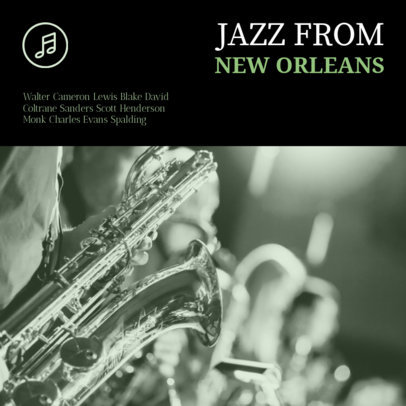 Jazz Album Cover Maker New Orleans Jazz 58c
