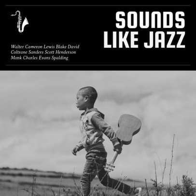Jazz Album Cover Maker with Black and White Images 58d