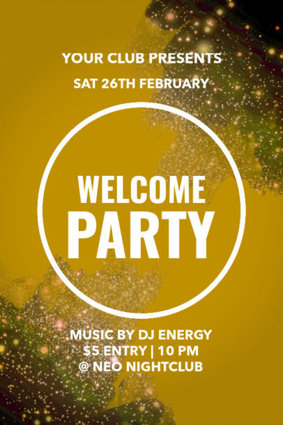 Welcome Party Poster Maker with Light Graphics 53d
