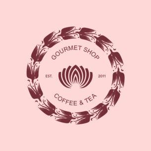 Tea Room with Flowers Logo Maker 950d