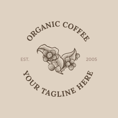 Coffee Shop Logo Maker with a Coffee Plant 950e