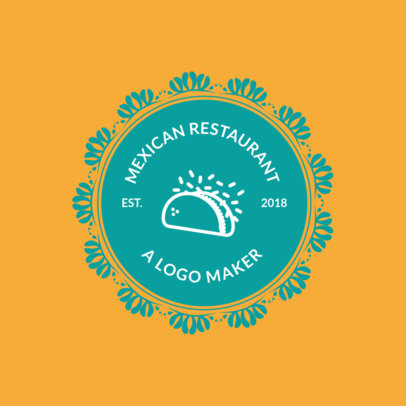 Mexican Food Restaurants Logo Maker with Taco Images 990e