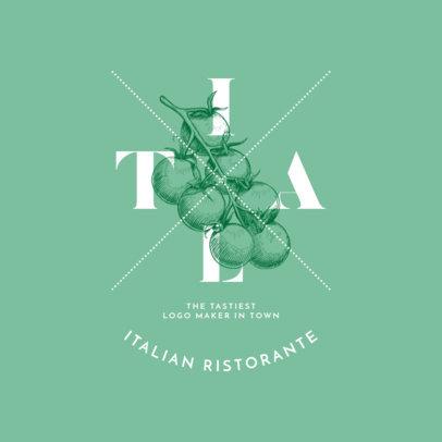 Italian Restaurant Logo Maker 1021c