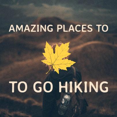 Hiking Social Media Post Template 564a