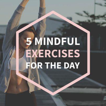 Social Media Post Template for Fitness Tips 582b