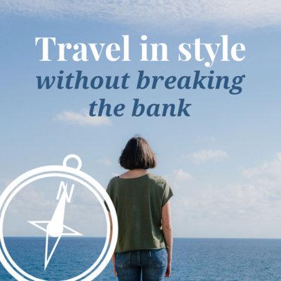 Travel Social Media Post Template 563e