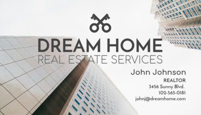 Real Estate Service Business Card Maker 66a
