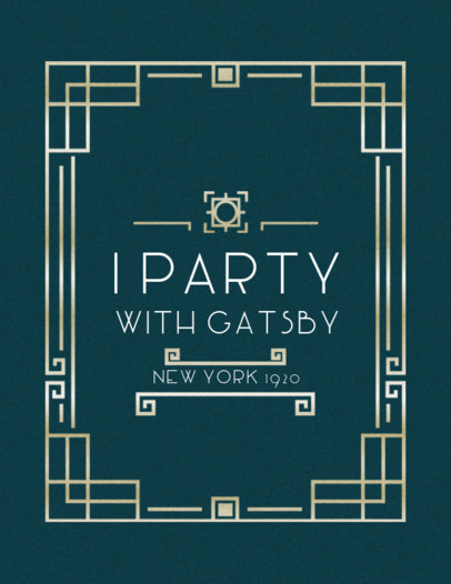 Gatsby Themed Party Shirt Design Maker 10e