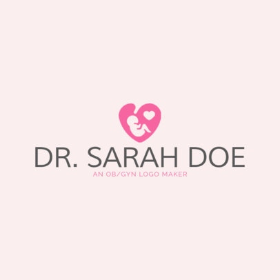 Women Health Logo Maker with Baby Symbols 1025f