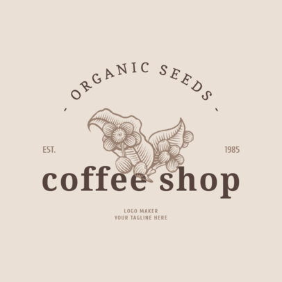 Organic Coffee Logo Maker 1020a