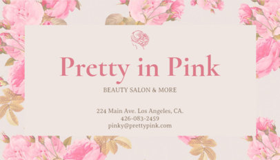 Beauty Salon Business Card Maker 67b