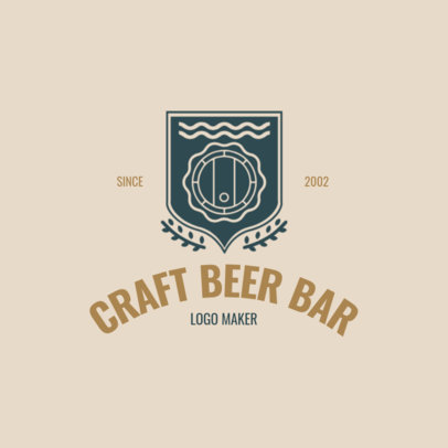 Brewing Company Logo Maker with Barrels Images 1061e