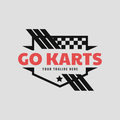 Gokarts Logo Maker with Shields 1086b