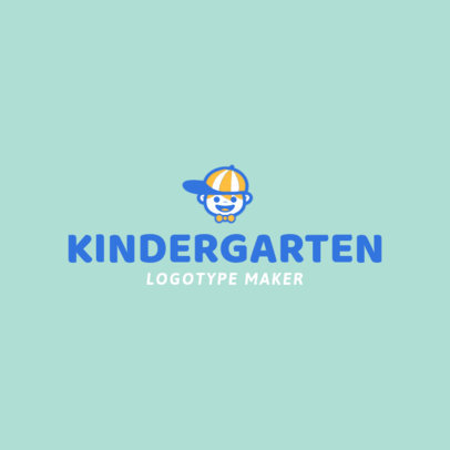 Kindergarten Logo Maker with Kids Graphics 1094e