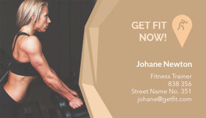 Fitness Trainer Business Card Maker 91e