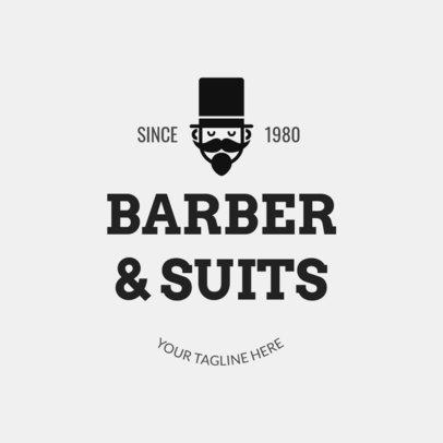 Classic Barber Shop Logo Maker 1123b