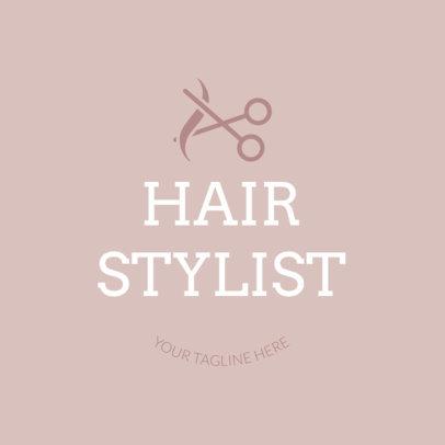 Hair Stylist Logo Template with Scissor Clipart 1123e