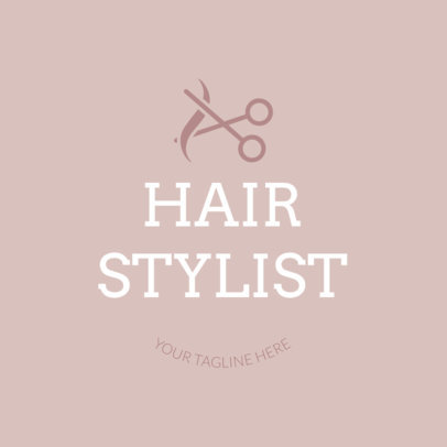 Hair Stylist Logo Template with Scissor Clipart 1123e