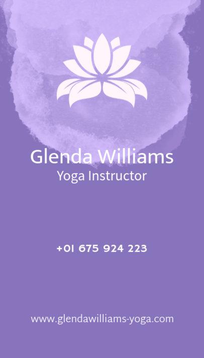 Yoga Teacher Business Card Maker with Lotus Flower 105e