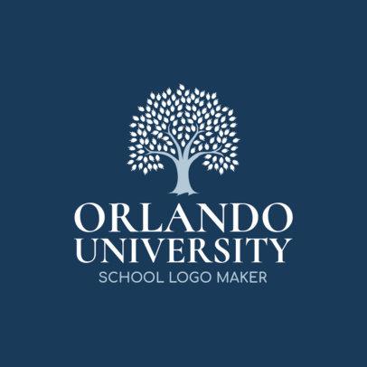 University Logo Maker with Tree Graphic 1087b