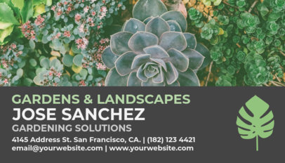 Landscaping Business Card Maker 97c