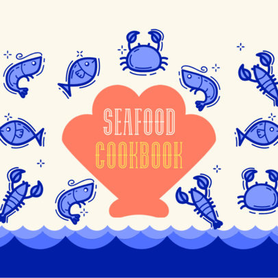 Book Cover Template for Seafood Recipes 408e
