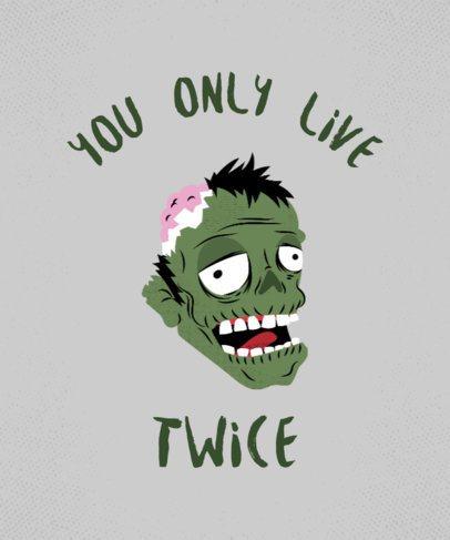 Funny Horror T-shirt Design Maker 12c