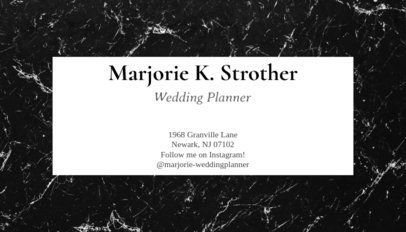 93e Event Planner Business Card