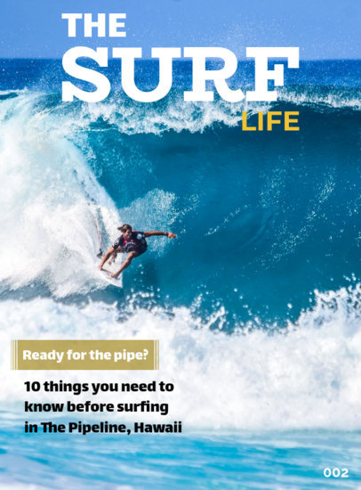 Magazine Cover Templates for Water Sports 56b