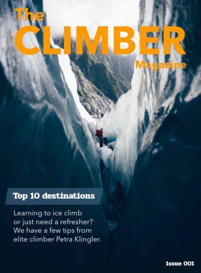 Climbing Magazine Cover Designer 56d