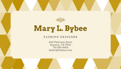 Modern Business Card Maker for Fashion Designers 138d