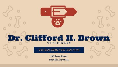 Business Card Template for Veterinarians 144b