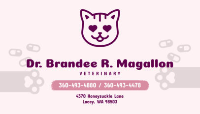 Business Card Maker for Veterinarians with Cat Icon 144e