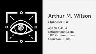 Business Card Template for Oculists with Eye Icon 145e