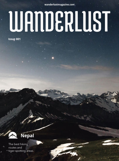 Wanderlust Travel Magazine Cover Maker 48b