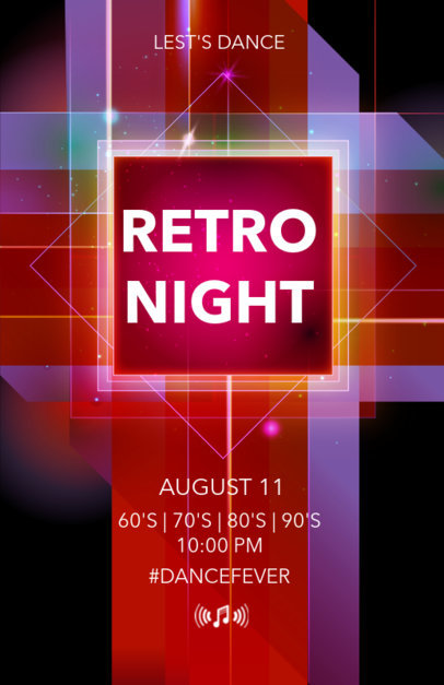Party Flyer Maker for Retro Parties 52a
