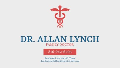 Medical Business Cards Maker for Family Practice 74c