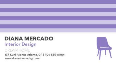 Interior Design Business Card Design Template 84a