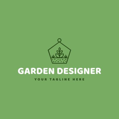 Landscaping Logo Maker with Garden Images 1166b