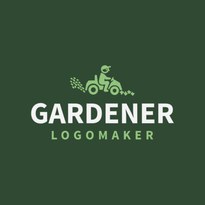 Gardener Logo Maker with Lawn Mower Images 1166e