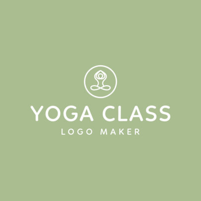 Yoga Logo Maker with Line Art 1180b