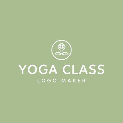 Yoga Logo Maker with Line Art 1180b