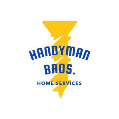 Handyman Logo Maker with Screw Clipart 1156f