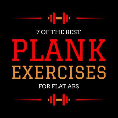 Social Media Post Template for Exercising 584d