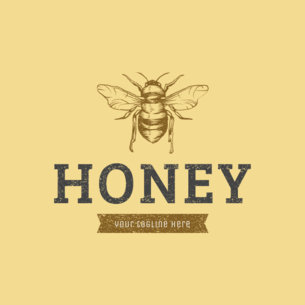 Custom Logo Maker for Honey Brands 1192a