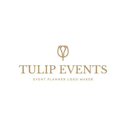 Event Planner Logo Maker with Vector Plants 1169b
