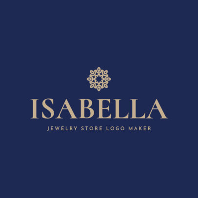 Jewelry Logo Maker for Stores with Minimalist Flowers 1169f