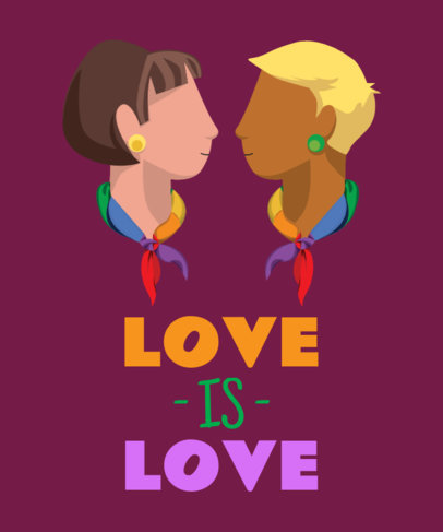 LGBT T-Shirt Design Maker for Lesbian Couples 29b